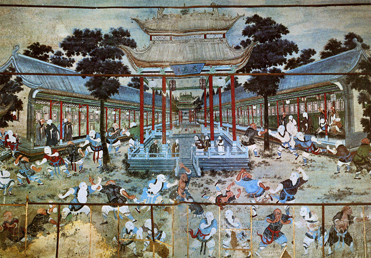 The similepedia blog everybody was kung fu fighting for Chinese mural painting